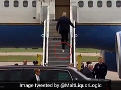 Video Of Donald Trump Boarding Plane With Toilet Paper Stuck To Shoe Goes Viral