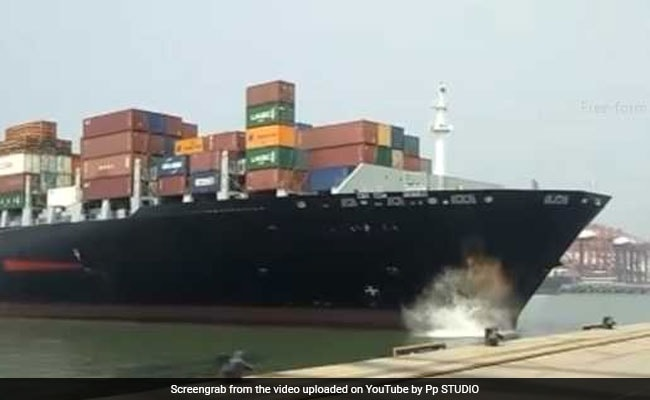 Ship Hits Jetty At Jawaharlal Nehru Port Near Mumbai