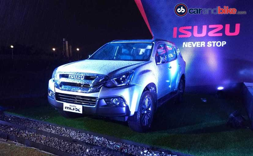 The Isuzu MU-X facelift competes against the Toyota Fortuner, Ford Endeavour and the likes