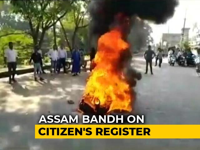 Video : Assam Shutdown: Protesters Try To Obstruct Trains Over Citizenship Bill