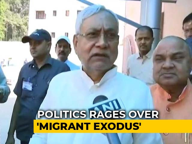 Video : Nitish Kumar's Message As Migrants Attacked After Baby Rape, Exit Gujarat