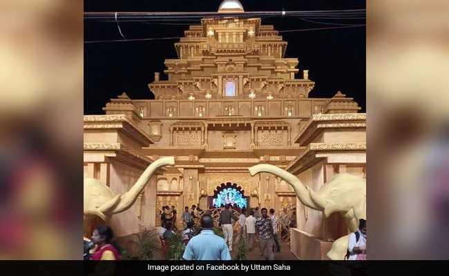 Tripura's Durga Puja Pandals Recreate The Grandeur Of Baahubali