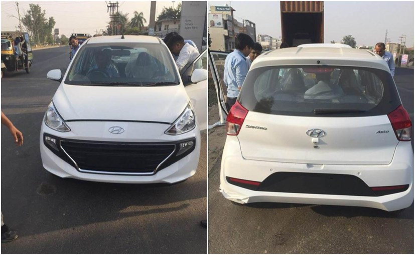 New Hyundai Santro 2018 Asta Trim Fully Revealed In New Spy Photos