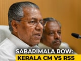 Video : RSS Wants To Make Sabarimala War Zone, Won't Allow: Kerala Chief Minister