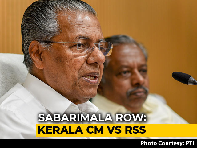 Video : RSS Wants To Make Sabarimala War Zone, Won't Allow: Kerala Chief Minister