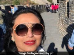 Rani Mukerji At The Great Wall Of China. But She's No Mere Tourist