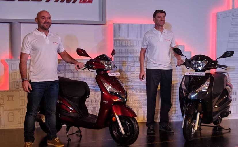 The Destini 125 is the Hero's first 125 cc scooter in India