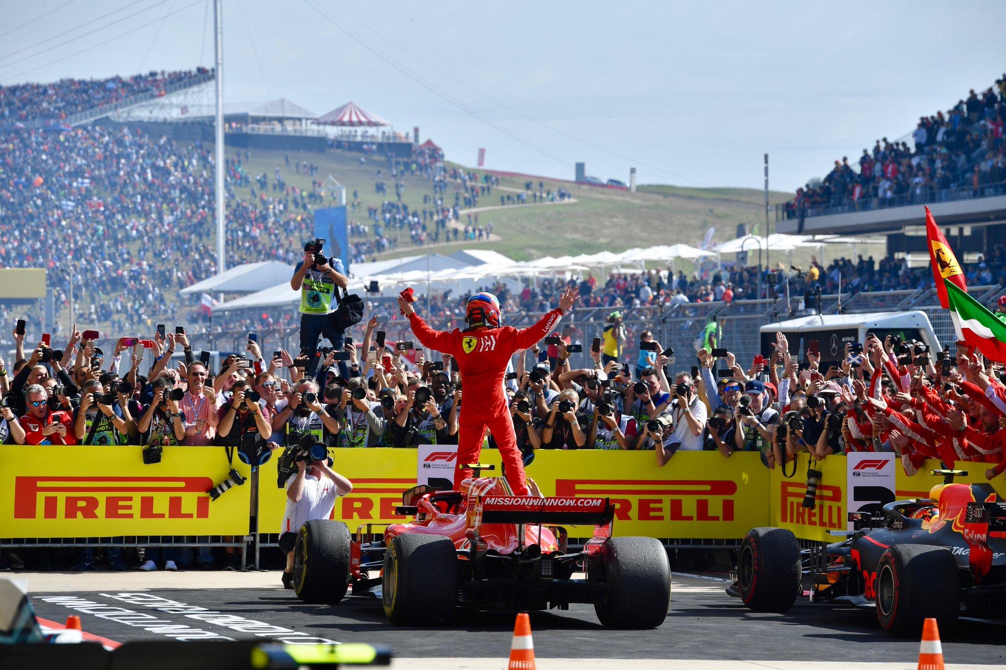 F1: Raikkonen Wins US GP, Puts Hamilton's World Title On Hold