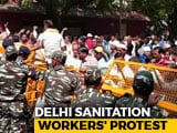 Video : Protesting Sanitation Workers, Headed To Parliament, Chased Away By Cops