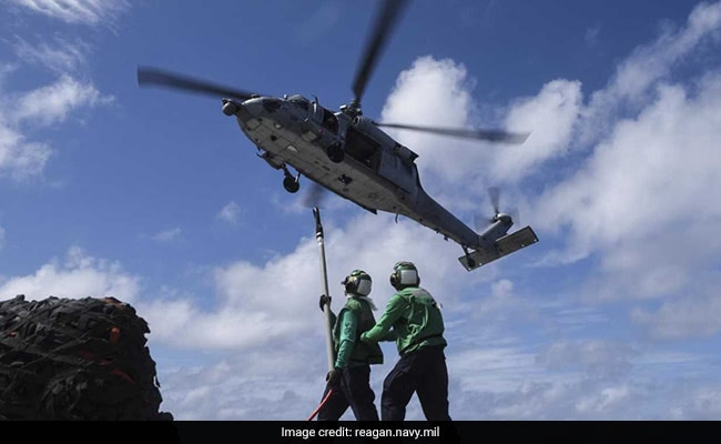 US Navy helicopter crashes on USS Ronald Reagan flight deck, sailors hurt