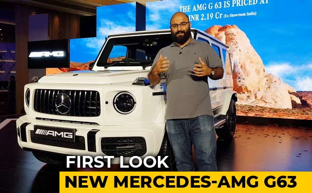 New Mercedes-AMG G63 In India: First Look