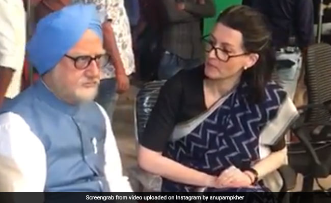 Anupam Kher Shares A BTS Video From The Sets Of The Accidental Prime Minister