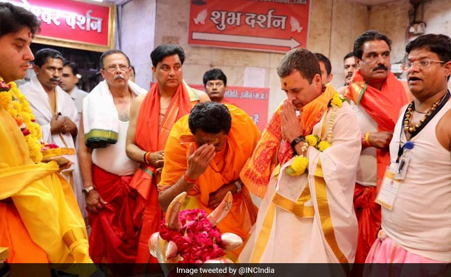 BJP Slams Rahul Gandhi, Calls His Temple Visits ''Fancy Dress Hindutva''