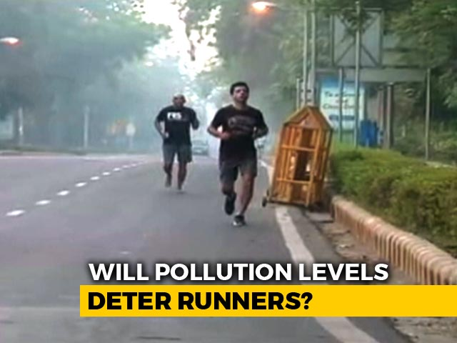 Video : Pollution No Problem For Marathoners