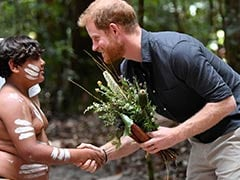 Prince Harry Visits World's Largest Sand Island In Australia
