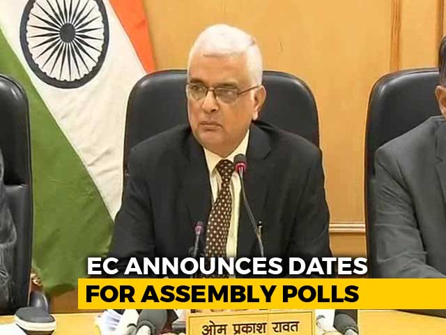 Video : 2-Phase Elections In Chhattisgarh On Nov 12 And 20, Says Election Commission