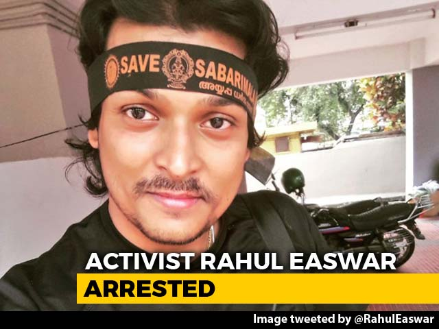 "Video : Rahul Easwar Arrested For Alleged ""Spill Blood"" Remark On Sabarimala"