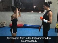सुष्मिता सेन ने शुरू कर दी बेटियों की ट्रेनिंग, जिमनास्टिकरिंग्स के साथ ऐसे करा रहीं वर्कआउट...देखें Video