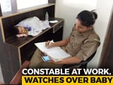 """Video: Mom Cop With Baby At Work, UP Police Chief """"Explores Creche Options"""""""