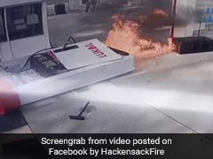 Shocking Video Shows Gas Pump Go Up In Flames After Car Pulls Away Too Soon