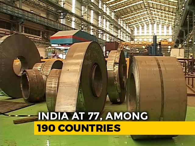 Video : India Jumps 23 Spots In 'Ease Of Doing Business' Index, Ranks 77
