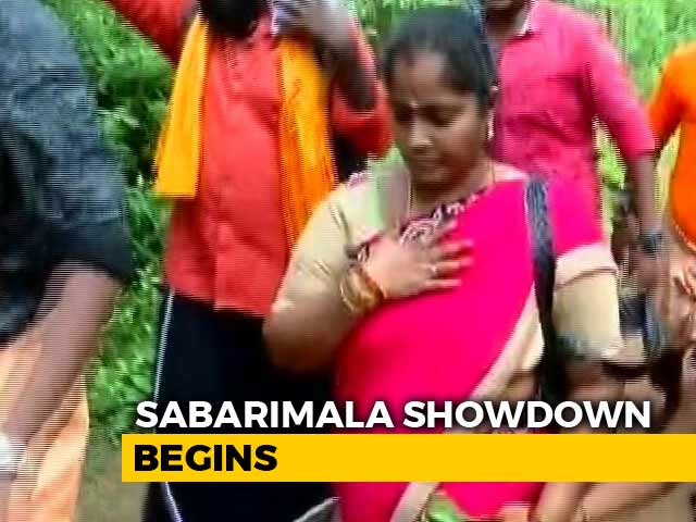 Video : Andhra Woman Who Attempts To Reach Sabarimala Shrine Forced To Return