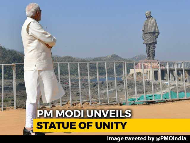 Video : PM Unveils Sardar Patel's Statue Of Unity, World's Tallest