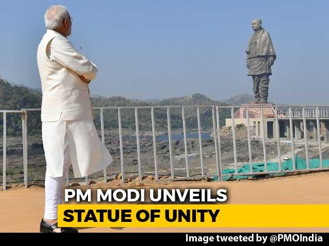 Video : PM Unveils Sardar Patel's Statue Of Unity, World's Tallest