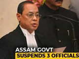Video : Chief Justice Waited While Amit Shah Inside Temple, 3 Assam Cops Punished