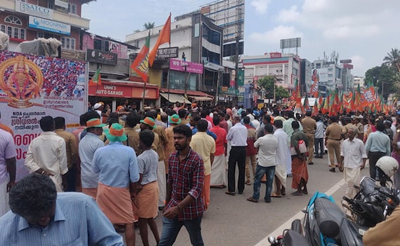 Protesters Check Vehicles For Women Day Before Sabarimala Temple Opening