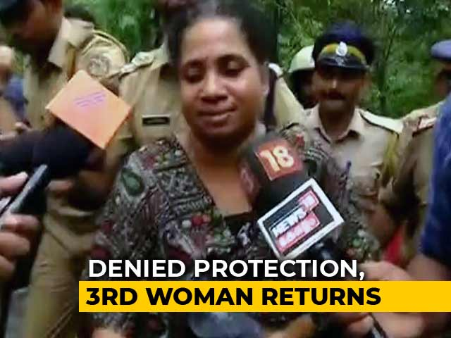 Video : On Your Own, Cops Told Woman After Sabarimala Protests Forced 2 To Return
