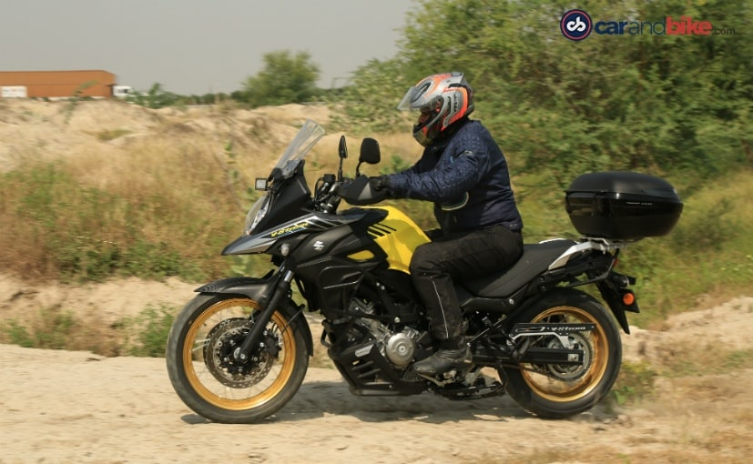suzuki v strom 650 xt abs first ride review ndtv carandbike. Black Bedroom Furniture Sets. Home Design Ideas
