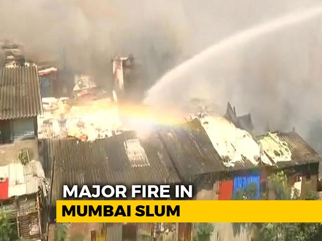 Video : Fire Breaks Out In Slum In Mumbai's Bandra, 9 Fire Engines On The Spot