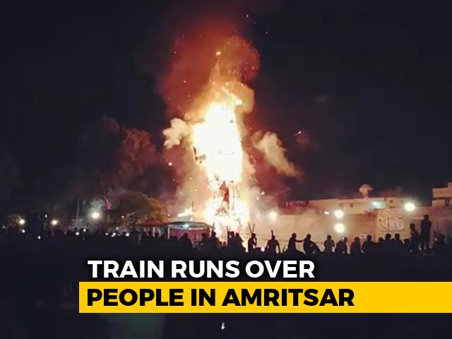 Video : Horrific Moment When Dozens Crushed By Punjab Train Caught On Video