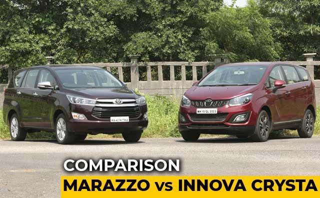 Mahindra Marazzo vs Toyota Innova Crysta: Comparison Review