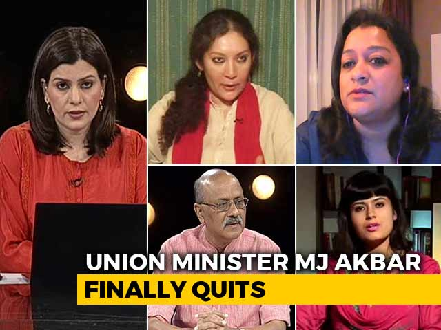 Video : MJ Akbar Finally Quits: Will The Women Get Justice?