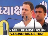 Video : Rahul Gandhi's Mega Rajasthan Road Show From Vasundhara Raje's Home Turf