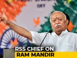 """Video : """"Even Opposition Can't Oppose Ram Temple In Ayodhya"""": Mohan Bhagwat"""
