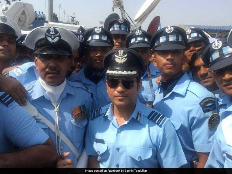 Watch: Sachin Tendulkar Attends The Air Force Day Parade