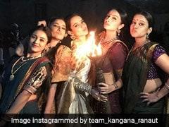 Kangana Ranaut And <I>Manikarnika</I> Co-Stars Celebrate Viral Teaser Like This