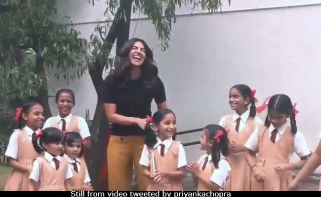 How Cute Is Priyanka Chopra's Version Of Loveyatri's Chogada With Her Little Dance Buddies