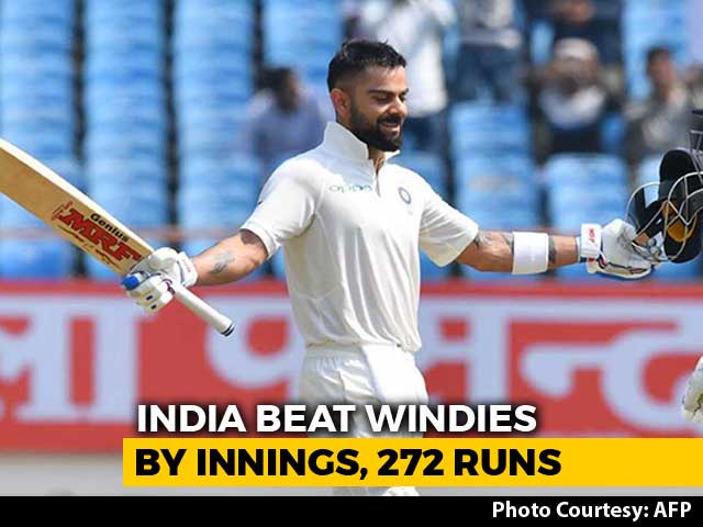 India Outclass Windies To Register Big Win In Rajkot Test