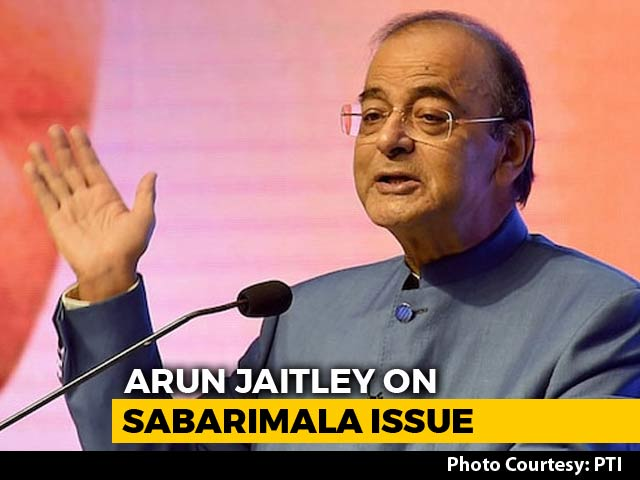 Video : Amid Sabarimala Row, Arun Jaitley Sees Constitutionalists-Devotees Divide