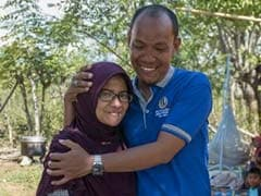 """So Happy, So Emotional"": Couple Reunites In Disaster-Hit Indonesia"