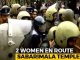 Video : 2 Women Almost At Sabarimala Shrine Blocked By Protesters, Priests