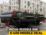 Video : Won't Hurt Allies, Says US After India-Russia Sign Missile Deal
