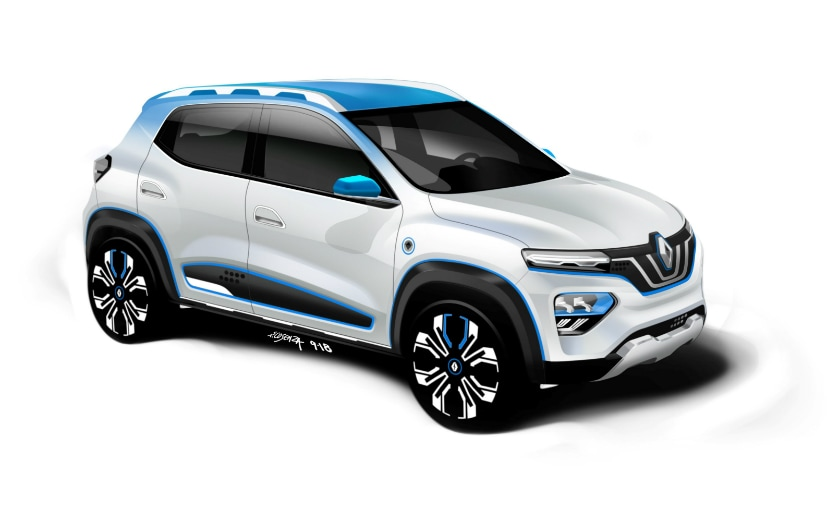 2018 Paris Motor Show Renault Kwid Electric K Ze Concept Showcased
