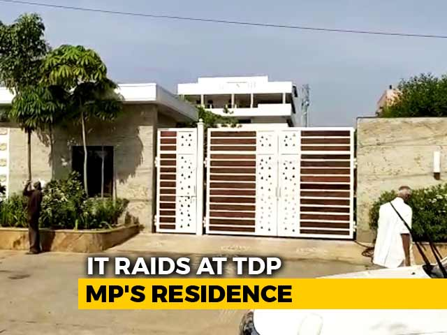Video : Andhra TDP Lawmaker's Homes, Office In Hyderabad Raided By Tax Officials