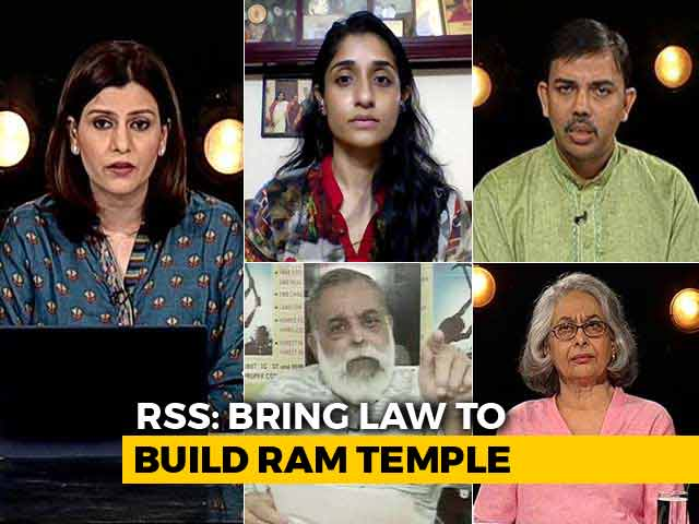 Video : Will Ram Temple Be BJP's Plank For 2019?