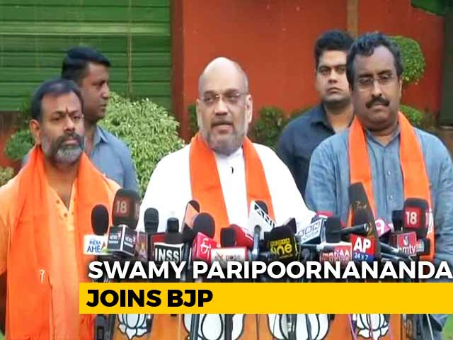 Video : Swami Paripoornananda Joins BJP, May Campaign In Telangana Elections